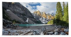 Early Morning At Moraine Lake Beach Towel