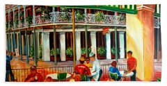 Early Morning At The Cafe Du Monde Beach Towel