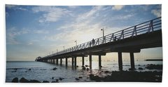 Early Morning At The Pier Beach Towel