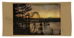 Early Morning At The Yaquina Bay Bridge  Beach Towel