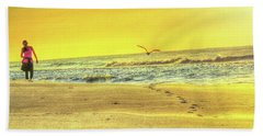 Early Morning Beach Walk Beach Towel