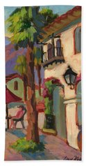 Early Morning Coffee At Old Town La Quinta Beach Towel
