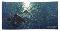 From A Window Of A Car Beach Towel by Donna Brown