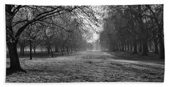 Early Morning In Hyde Park 16x20 Beach Towel