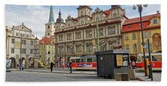 Early Morning In Prague Beach Towel