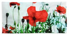 Early Morning Poppy Moment Beach Towel