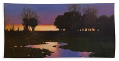 Early Morning Rice Fields Beach Towel