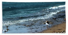 Early Morning Stroll Beach Sheet by Stephen Melia