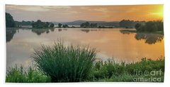 Early Morning Sunrise On The Lake Beach Towel