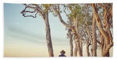 Beach Towel featuring the photograph Early Morning Tranquility Down By The Lake by Keiran Lusk