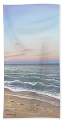 Early Morning Waves Beach Towel