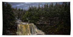 Early Snow At Black Water Falls Beach Towel