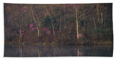 Early Spring Lake Shore Beach Towel