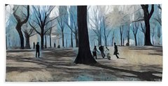 Early Spring - New York Beach Sheet by Miriam Danar