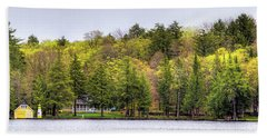 Early Spring Panorama Beach Sheet by David Patterson