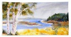 Early Summer Birches Beach Sheet