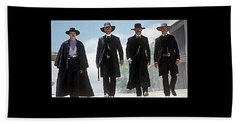 Earp Brothers And Doc Holliday Approaching O.k. Corral Tombstone Movie Mescal Az 1993-2015 Beach Towel