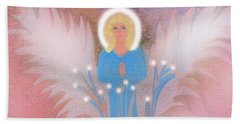 Earth Angel Of Love Beach Sheet by Sherri's Of Palm Springs