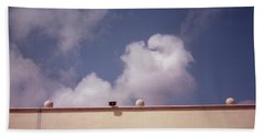 Earth Calling Sky  Beach Towel