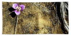 Beach Towel featuring the photograph Earth Memories - Desert Flower # 2 by Ed Hall