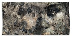 Beach Sheet featuring the photograph Earth Memories - Stone # 7 by Ed Hall