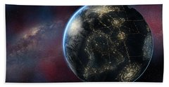 Earth One Day Beach Towel by David Collins