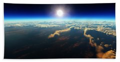 Earth Sunrise From Outer Space Beach Towel