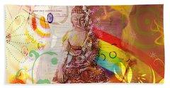 Earth Touching Buddha Beach Sheet