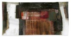 Orange Home Beach Towel by Behzad Sohrabi