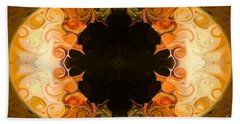 Earthly Undecided Bliss Abstract Organic Art By Omaste Witkowski Beach Towel