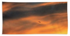 Beach Towel featuring the photograph Ease Into The Night by John Glass