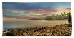 Beach Towel featuring the photograph Eastport Low Tide by Lori Deiter