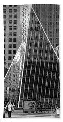 East 42nd Street, New York City  -17663-bw Beach Towel