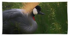 East African Crowned Crane Dp Beach Towel by Ernie Echols