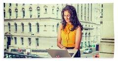 East Indian American Businesswoman In New York Beach Sheet