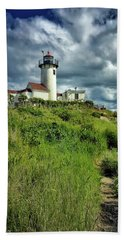Beach Towel featuring the photograph East Point Lighthouse by Andrea Platt