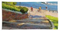 East River From Carl Schurz Park Beach Towel