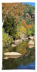 East Verde Fall Crossing Beach Towel
