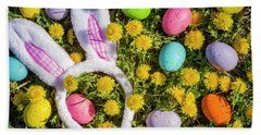 Beach Towel featuring the photograph Easter Bunny Ears by Teri Virbickis