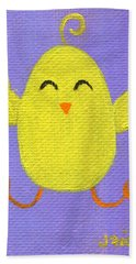 Beach Towel featuring the painting Easter Chicky by Jamie Frier