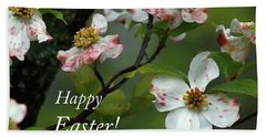 Beach Towel featuring the photograph Easter Dogwood by Douglas Stucky