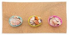 Easter Egg Baskets On Beach Beach Towel