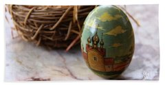 Easter Egg Russian Style Beach Towel by Yvonne Wright