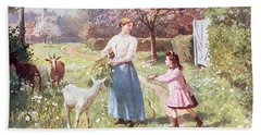 Easter Eggs In The Country Beach Towel by Victor Gabriel Gilbert