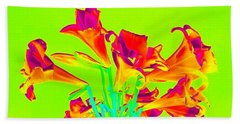 Vibrant Lilies Beach Towel