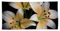 Easter Lilies  Beach Sheet by Deborah Klubertanz