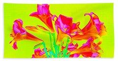 Easter Lilies Beach Towel by Karen J Shine