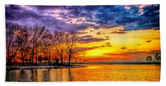 Beach Towel featuring the photograph Easter Sunset At Riverview Beach Park by Nick Zelinsky