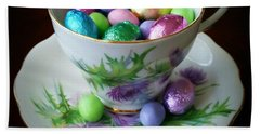Easter Teacup Beach Towel