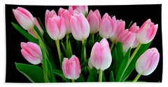 Easter Tulips  Beach Towel